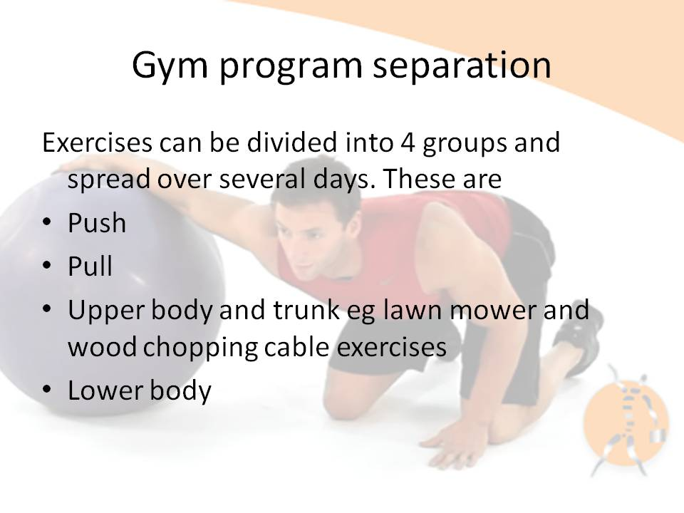 Gym programme structure